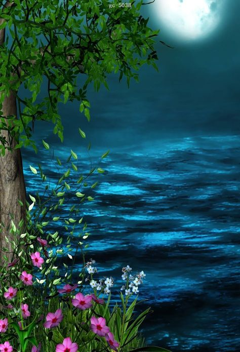 Fairy Tale Forest Sea Photo Background Photography Studio Backdrop Props
