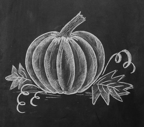 How to Draw a Chalk Pumpkin Valerie McKeehan, author of The Complete Book of Chalk Lettering, gives a step-by-step tutorial on how to draw a [. Fall Chalkboard Art, Chalkboard Doodles, Chalkboard Writing, Chalkboard Drawings, Chalkboard Designs, Halloween Chalkboard Art, Thanksgiving Chalkboard, Chalkboard Paint, Easy Chalk Drawings