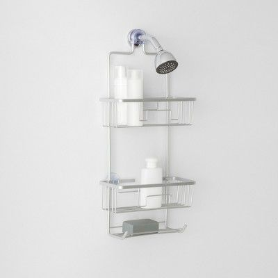 Large Rustproof Shower Caddy With Lock Top Gray Made By Design Shower Caddy Made By Design Amazing Bathrooms
