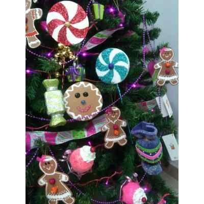 Paletas de foami para arbol de navidad