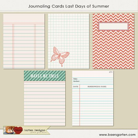 PRINTABLE Journaling Cards Lets go camping Project by baersgarten