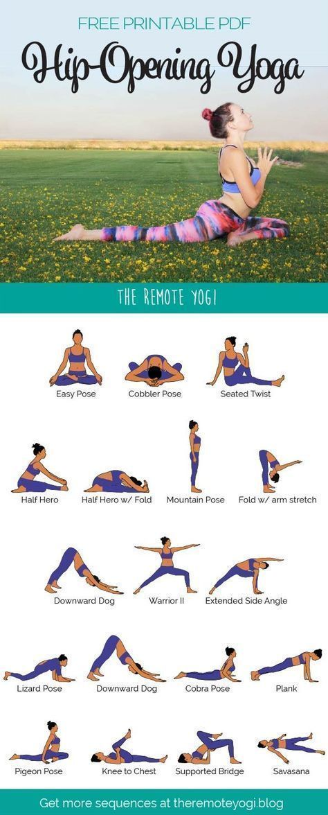 Hip Opening Yoga Flow Sequence Pdf Free Printable Download Hip Opening Yoga Yoga Benefits How To Do Yoga