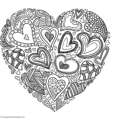 Free Instant Download  Heart of Hearts Coloring Pages