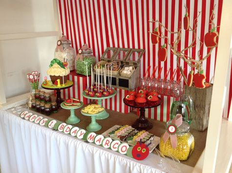 VERY HUNGRY CATERPILLAR BIRTHDAY/very-hungry-caterpillar-party-dessert-table