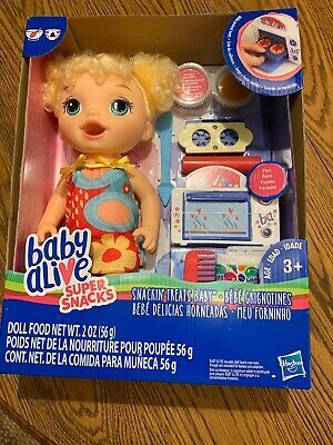 Baby Alive Blonde Curly Hair Super Snacks Snackin Treats Baby New In Box Baby Alive Baby Alive Dolls Kids Toy Gifts