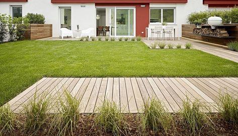 Giardino Con Passerella In Legno Architetti Cortile E