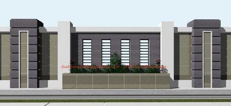 40 Model Pagar Tembok Minimalis | Minimalis, Desain Produk, Desain  Eksterior Rumah