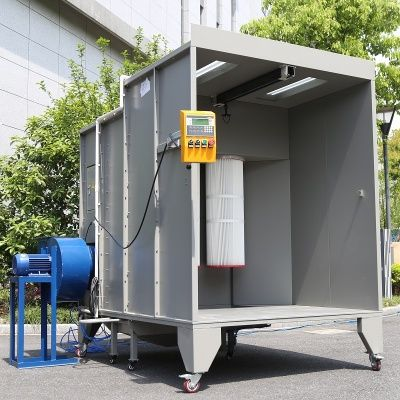 Spray Booth Spray Paint Booth Mobile Paint Booth Open Face Manual Powder Spray Booth Cabina Di Verniciatura A Pol Spray Booth Paint Booth Spray Paint Booth