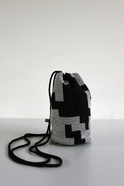 Rucksack, Tasche in schwarz-weiß // backpack, bag in black and white via DaWanda.com