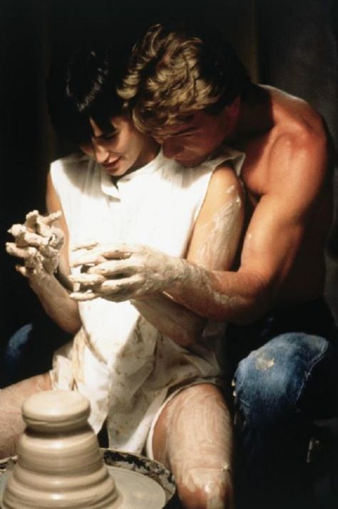 Scene from the movie, Ghost. But I adore sculpting with clay. And my man up against my back with his arms around me helping me.... Oooh.