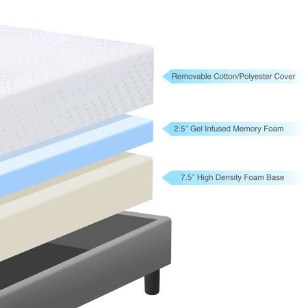 10 Inch Gel Memory Foam Mattress Twin Mattress By World Market In 2020 Queen Memory Foam Mattress Memory Foam Gel Mattress