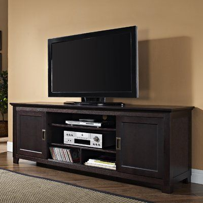 Darby Home Co Grace Tv Stand For Tvs Up To 70 Wayfair En 2020 Porte Coulissante Meuble Meubles De Rangement