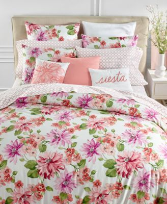 Charter Club Damask Designs Bouquet 3 Pc Full Queen Duvet Cover Set Created For Macy S Red Chic Bedding Luxury Bedding Sets Rose Duvet Cover