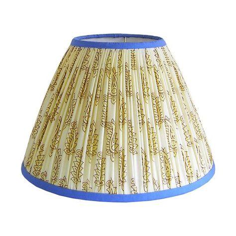 Gathered Lamp Shade Cream Lamp Shade Patterned Lamp Shade
