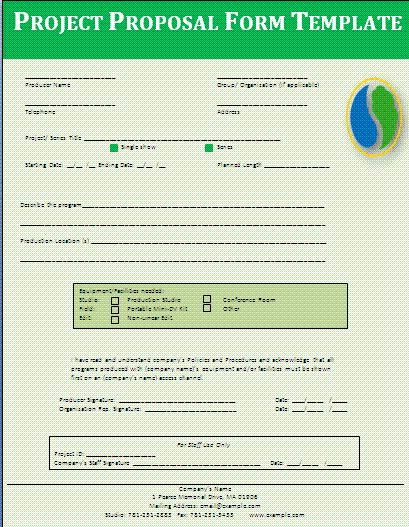 A proposal form is the most important and required document in any - proposal form template