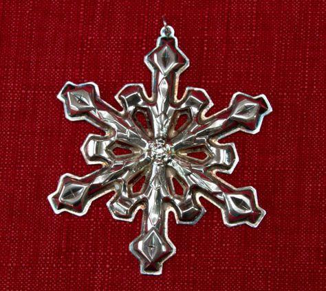Vintage 1980 Gorham Silver Plated Snowflake Ornament