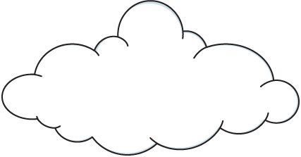 Dibujos Para Colorear El Tiempo Nublado Cliparts Gratuitos