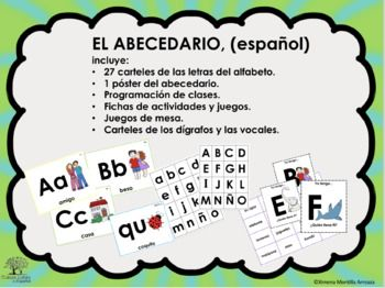 Set Bundle El Abecedario Alfabeto Espanol Spanish El