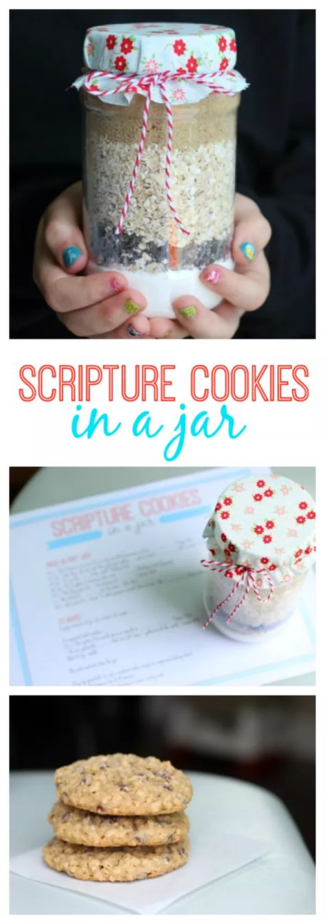 Scripture Cookies in a Jar are a Fun Youth Group Activity A fun young women's activity and treat all in one! Scripture cookies in a jar. Search scripture verses to find the ingredients. Pack into a jar and send home with each girl to make for her fa…