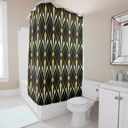 Art Deco Shower Curtain Zazzle Com Art Deco Curtains Deco