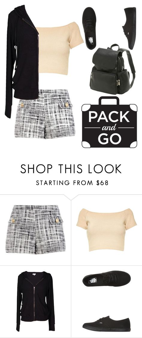 """Labor Day"" by daniellemtartaglione ❤ liked on Polyvore featuring Boutique Moschino, Alice + Olivia, Velvet by Graham & Spencer, Vans and Le Donne"