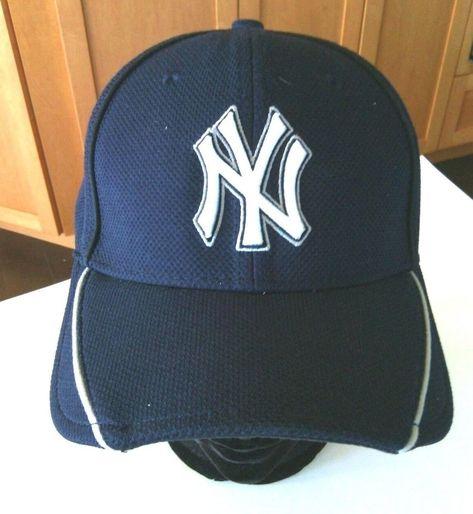 44a34c9122199 NY Yankees Baseball Cap Size S - M New Era Hat 39Thirty Navy Team USA Ball  Game  NewEra  BaseballCap