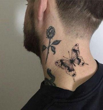 4 De Las Posiciones De Tatuajes De Mariposas En El Cuello Catalogo De Tatuajes Para Hombres Tatuajes Para Hombres Mariposa Tatuaje Tatuaje Del Cuello
