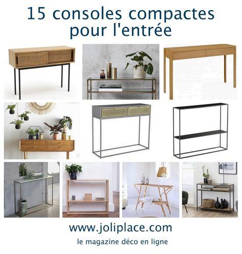 15 consoles compactes pour l'entrée - JOLI PLACE