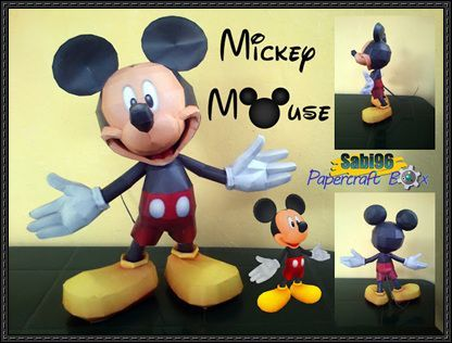 Pin By Cloclo Hanquez On Papercraft Mickey Mickey Mickey Mouse Paper Crafts