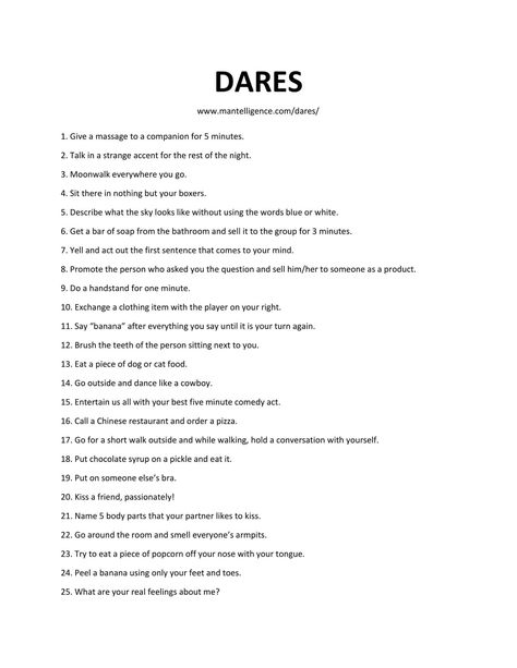 30 Really Good Dares You Can Do With Friends – The only list you'll need!