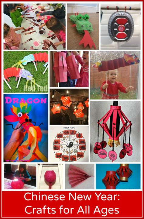 15 Chinese New Year Crafts: Preschool through Elementary. Multicultural art projects: dragons, spring blossoms, Chinese lanterns, a gong, etc. nouvel an chinois