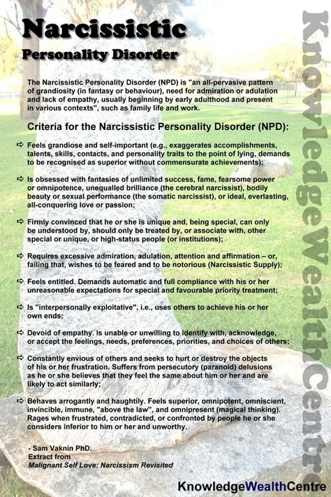 Narcissistic Personality Disorder. #Psychological #Disorders #hawaiirehab www.hawaiiislandrecovery.com
