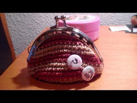 ▶ Como hacer un Monedero con boquilla redonda paso a paso en español a ganchillo o crochet - YouTube