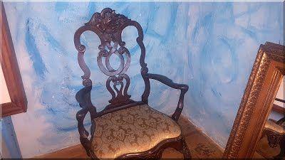 karfás barokk rokokó szék, angol antik bútor | Antiques