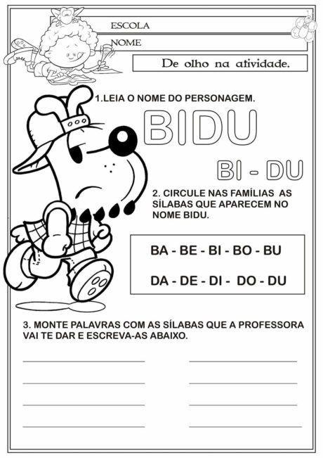 Silabas Com B Ba Be Bi Bo Bu Para Alfabetizacao Com Imagens