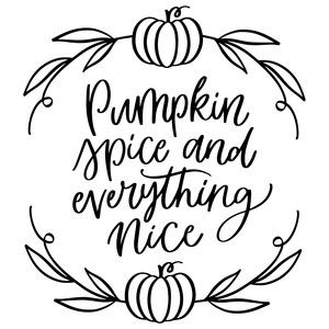 Silhouette Design Store: Pumpkin Spice And Everything Nice Halloween Quotes, Halloween Signs, Diy Halloween, Silhouette Projects, Silhouette Design, Cricut Craft Room, Cricut Vinyl, Decoupage, Cricut Creations