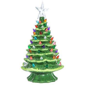 Green Christmas Tree Lamp Mini Christmas Tree Ceramic Christmas Trees Green Christmas Tree