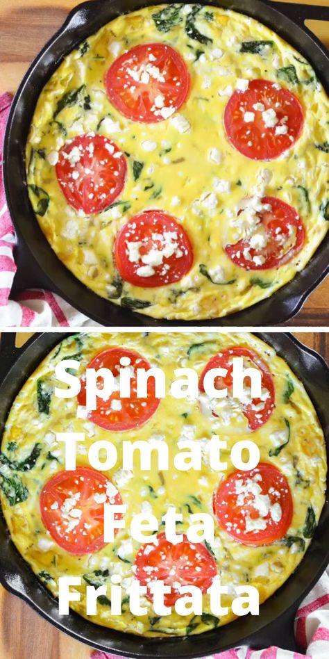 Spinach Tomato Feta Frittata