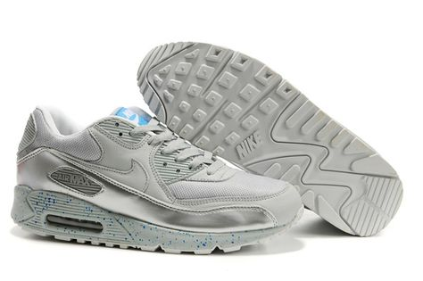 302519 905 Nike Air Max 90 Euro Champs Neutral Grey New Blue AMFM0658 2c910707fb