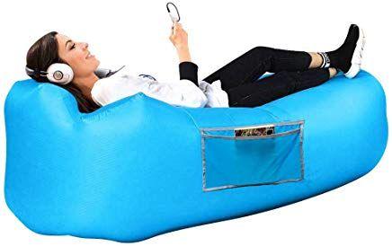 Qianguang Aufblasbare Liege Tragbare Luft Sofa Couch Bett Far