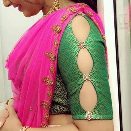 Flattering Saree Blouse Sleeve Designs Of This Year Keep Me Stylish Fashion Blouse Design Sleeves Designs For Dresses Trendy Blouse Designs