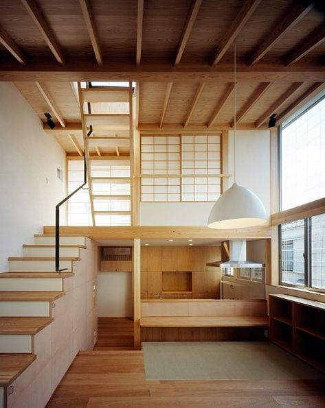 Fragments of architecture — Kousuke Izumi Architects Modern Japanese Interior, Architecture Design, Japanese Architecture, Casa Loft, Interior Design Minimalist, Tiny House Design, Design Loft, Design Furniture, Small Spaces