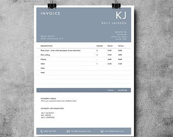 Invoice Template Receipt Template Invoice Instant Download Etsy Invoice Design Photography Invoice Template Invoice Template