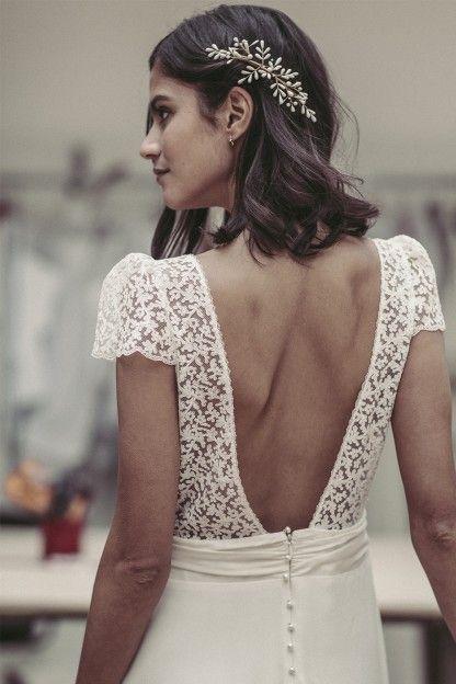 Pin By Laurettaki On Hair Short Wedding Hair Wedding Dresses