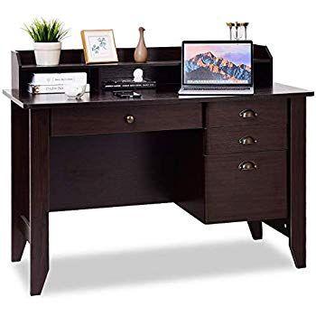 Amazon Com Inval America Es 2403 Softform Desk Espresso Wenge