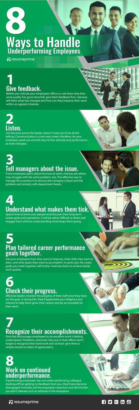 8 Ways to Handle Underperforming Employees