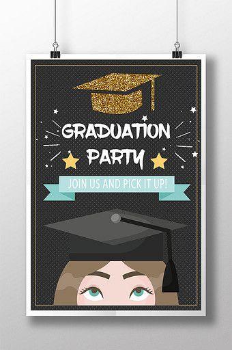 Graduation Poster Design Graduation Poster Poster Design Party