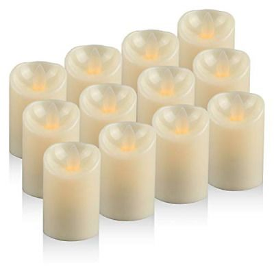 Moving Wick Led Candles Tea Light Battery Operated Flickering Electric Candles Fashion Home Garden Homedcor Candle In 2020 Led Candles Electric Candles Tea Lights