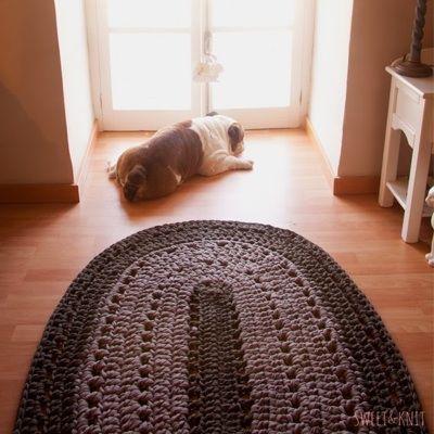 alfombras ovaladas al crochet patrones Buscar con Google