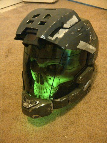 Calen Propcustomz uploaded this image to 'Halo Reach Haunted Helmet